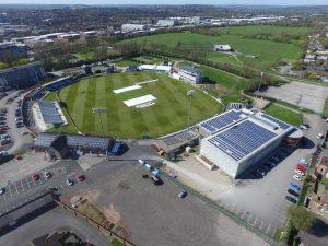 derbyshire cricket club solar panels